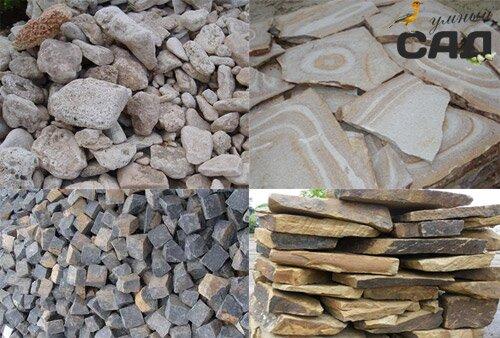 виды камней для клумбы