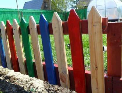 деревянное ограждение для палисадника