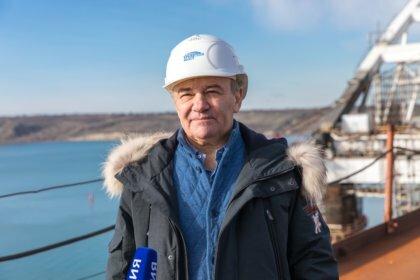 Аркадий Ротенберг на Крымском мосту